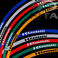 "New 17""  Fluorescent Motorcycle Motorbike Wheel Rim Stripe Tape Sticker for Kawasaki CBR 5 Colors"