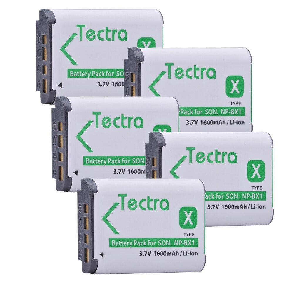 Tectra NP-BX1 NPBX1 5 pcs/pack Li-ion Bateria Pack POUR SONY DSC-RX100 RX1 HDR-AS15 AS10 HX300 WX300 NPBX1 NP BX1 BC-CSXB