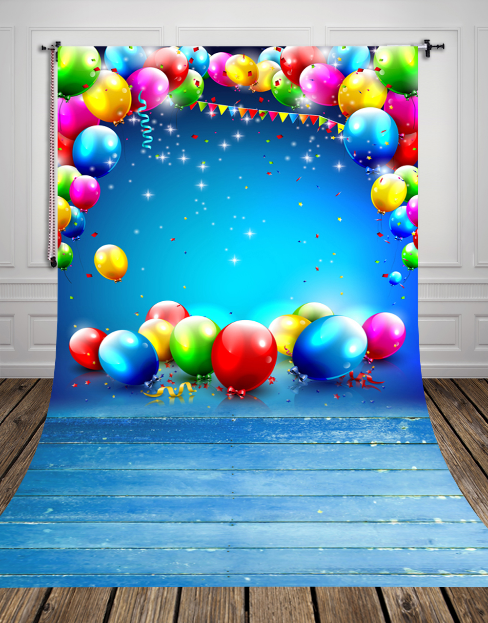 fantastic balloon printed festival backdrops for baby photo Thin vinyl newborn backdrop for studio photography background