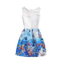 HOT 2017 Elsa Dress Girl Dresses For Girls Snow Queen Teenagers Butterfly Print Party Dress Anna Elsa Vestidos Kids Costume