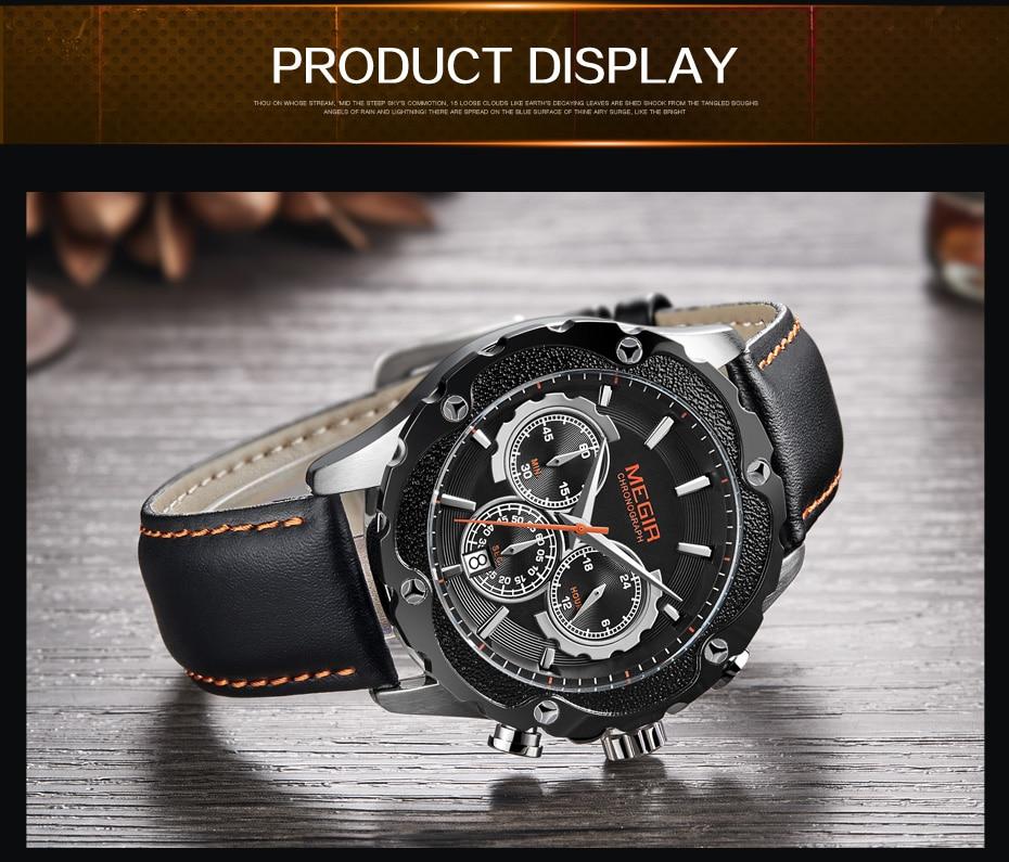 Topdudes.com - MEGIR Luxury Army Military Chronograph Sports Relogio Masculino Watch