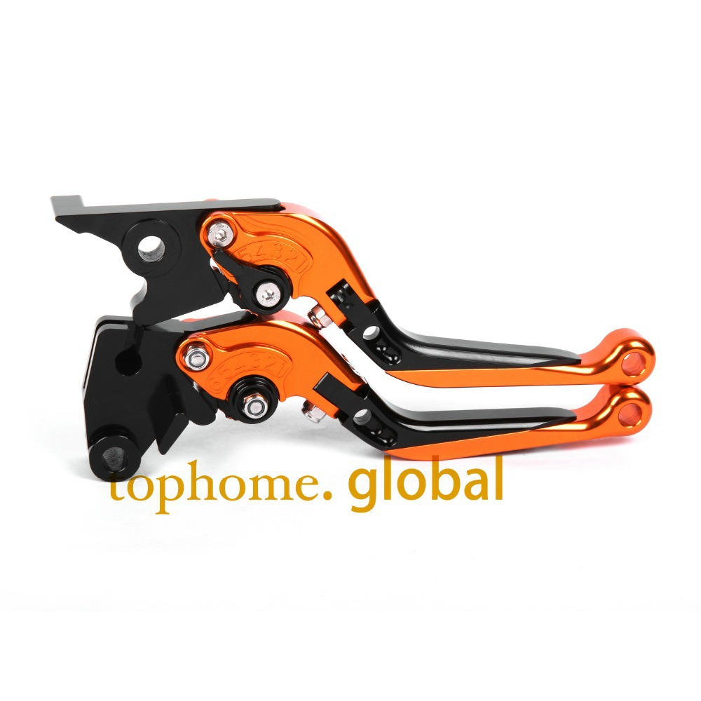 Hot CNC Folding&Extending Brake Clutch Levers For Moto guzzi BREVA 1100 2006-2012 2007 2008 Orange&Blac Motorcycle Accessories adjustable cnc aluminum clutch brake levers with regulators for moto guzzi breva 1100 2006 2012 1200 sport 07 08 09 10 11 12 13