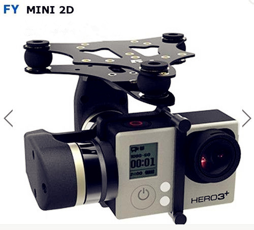 Feiyu Gopro4 Gopro3+ Gopro3 Support Camera Tech FY MiNi2D 2-Axle Light weight Brushless Gimbal feiyu tech fy wg mini 2 axle wearable gimbal for gopro 3 3 4 camera
