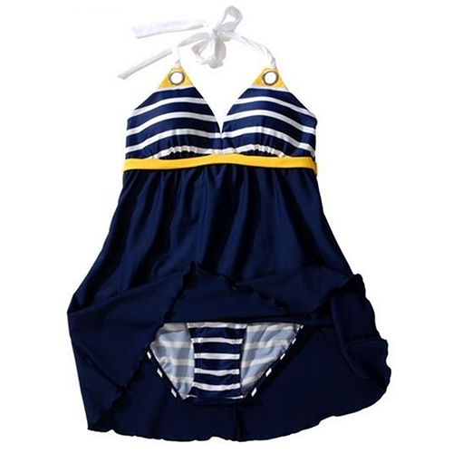 font b Women s b font Sexy Swimwear Ladies Sailor Style Skirt Beach Swimming Wear