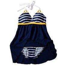 Women s Sexy Swimwear Ladies Sailor Style Skirt Beach Swimming Wear Swim Dress
