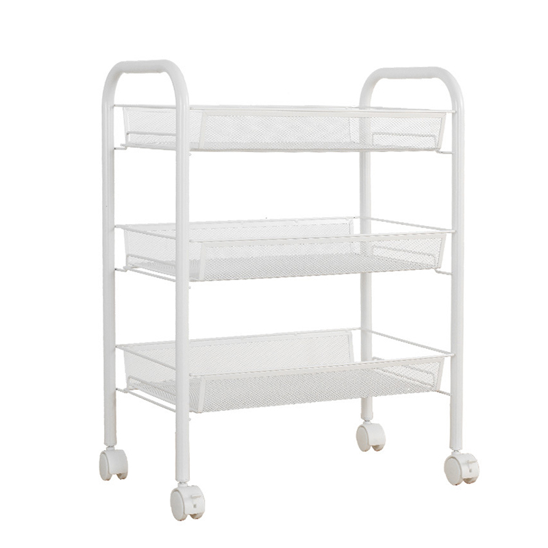 metal storage cart sdfc langria white metal mesh rolling cart storage rack 23289