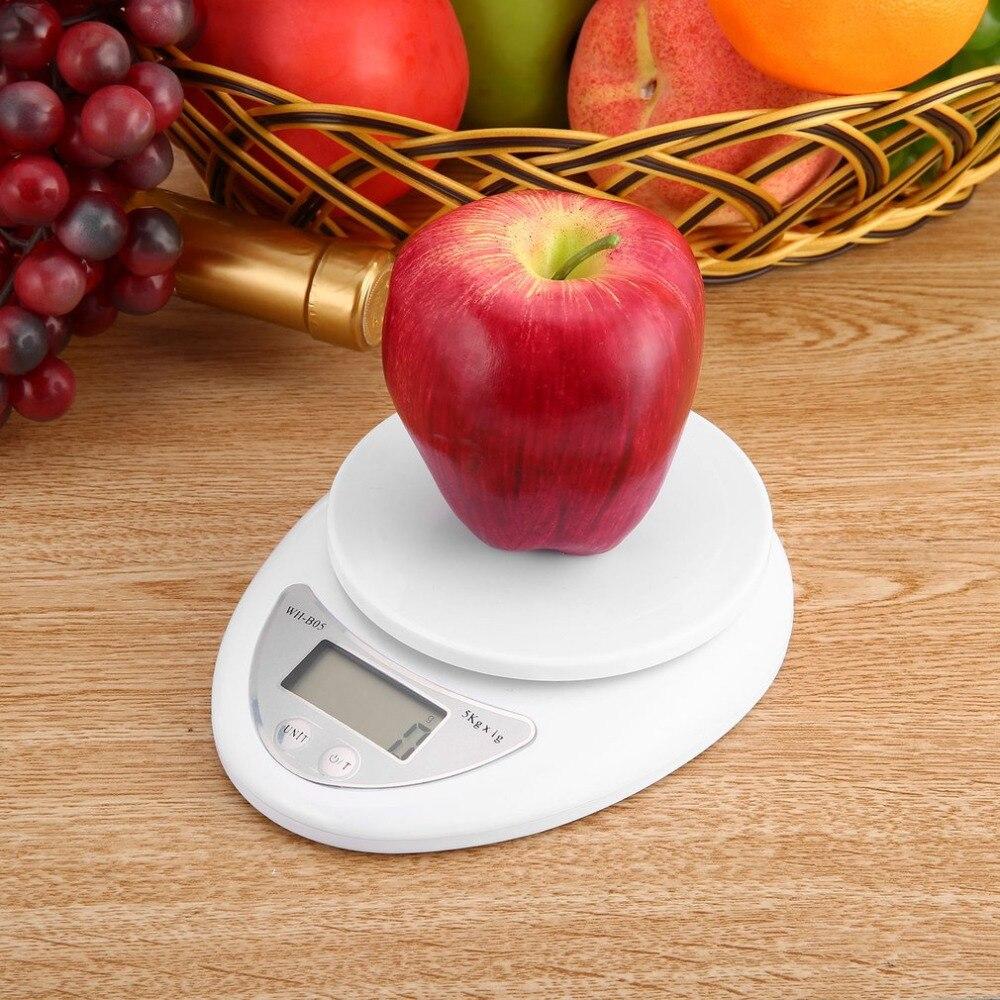 5 kg 5000g/1g escala Digital cocina Dieta Postal Escala electrónica peso escalas equilibrio de herramienta electrónica LED WH-B05