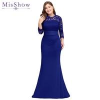 robe de soiree longue Plus Size Evening Dresses 2018 Cheap Red Royal Blue  Long Mermaid Evening Party Gown Dress Vestido De Festa b32e64fe9c74