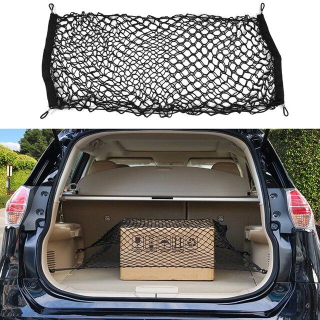 90x40cm Trunk Car Rear Cargo Organizer Storage Elastic Carrier Mesh Net Nylon Car Interior Storage Bags Stowing Tidying