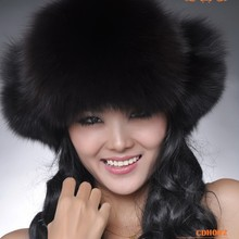 CDH002 Hot Item Fashion Winter Raccoon&Fox Fur Hat With Ear
