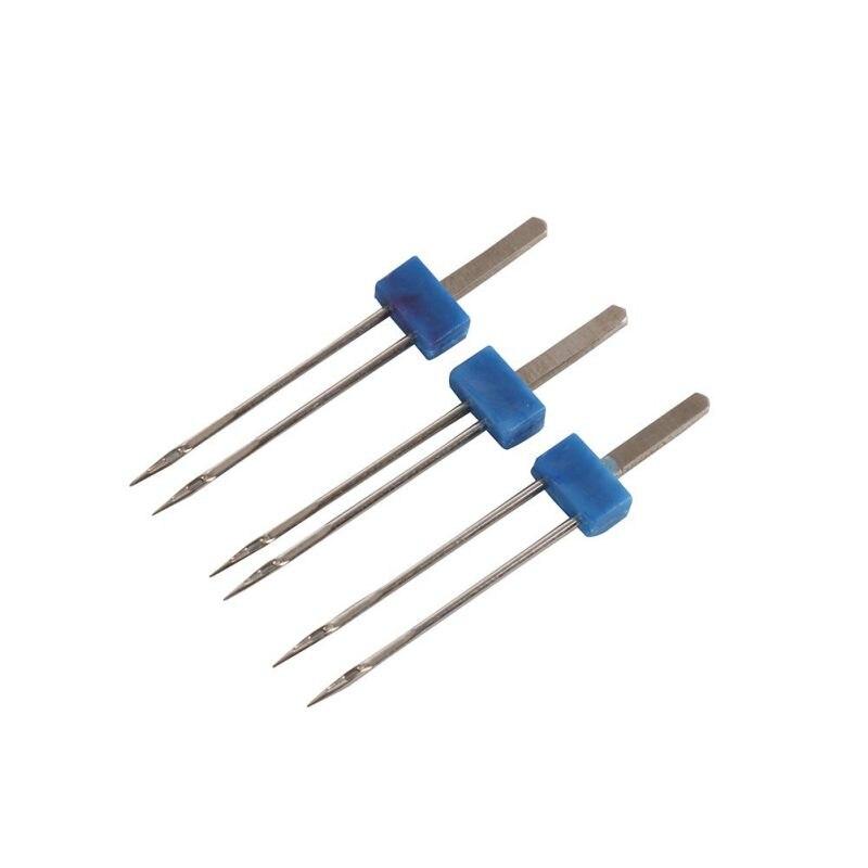 רשימת הקטגוריות 3pcs / סט גודל 2,0 / 90-3.0 / 90-4.0 / 90 פלדה זוגי טווין מחט תפירה מכונת מחטים סיכות בד דקור רקמה סריגה NeedlesN (4)
