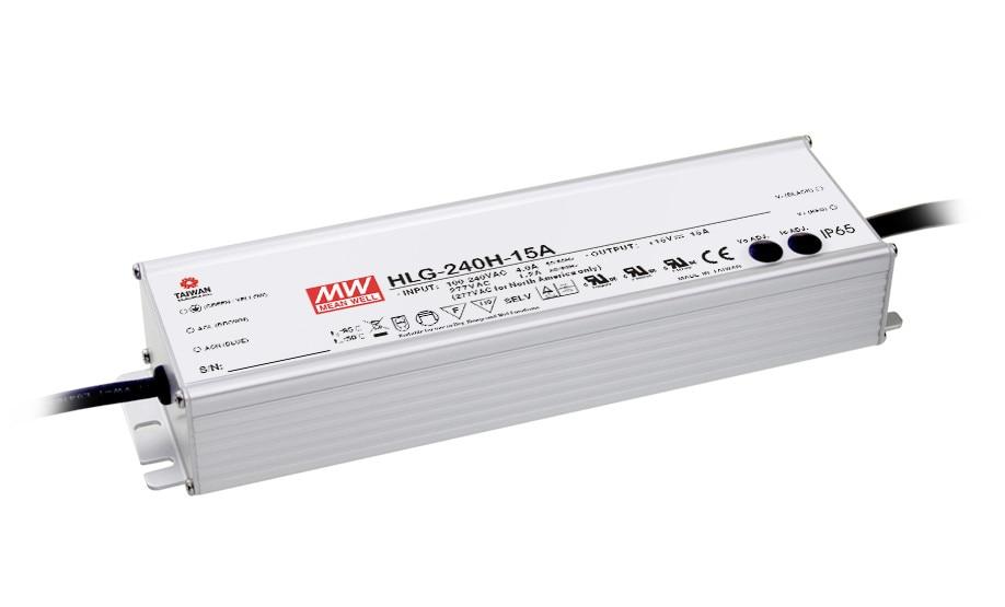 цена на MEAN WELL original HLG-240H-24B 24V 10A meanwell HLG-240H 24V 240W Single Output LED Driver Power Supply B type