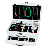 Wooden Jewelry Box Retro Storage Case Makeup Organizer Cosmetic Organizer Storage Container Wooden Box