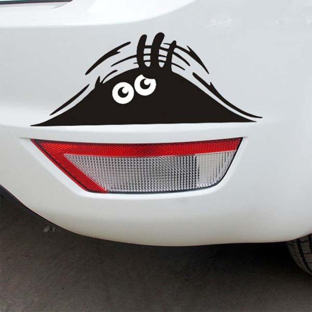 Prompt funny car stickers window sticker vinyl graphic decal eyes peeking monster car hoods trunk thriller rear window decals