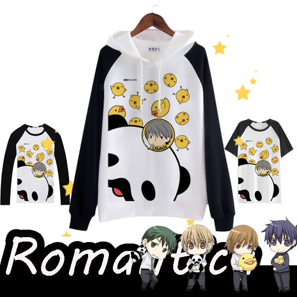 [STOCK] Anime Junjou Romantica Printed T-shirt Cosplay Fleece Hoodie S-XXL Pullover Top Tee Unisex Free Shipping