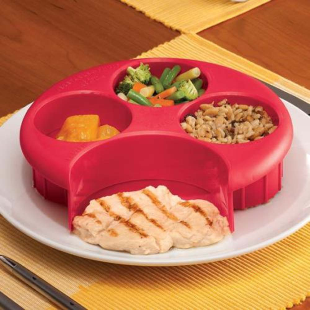 New Brand Meal Measure Weight Loss Diet Portion Plan Control Plate Manage Control Plate New Assorted Color image