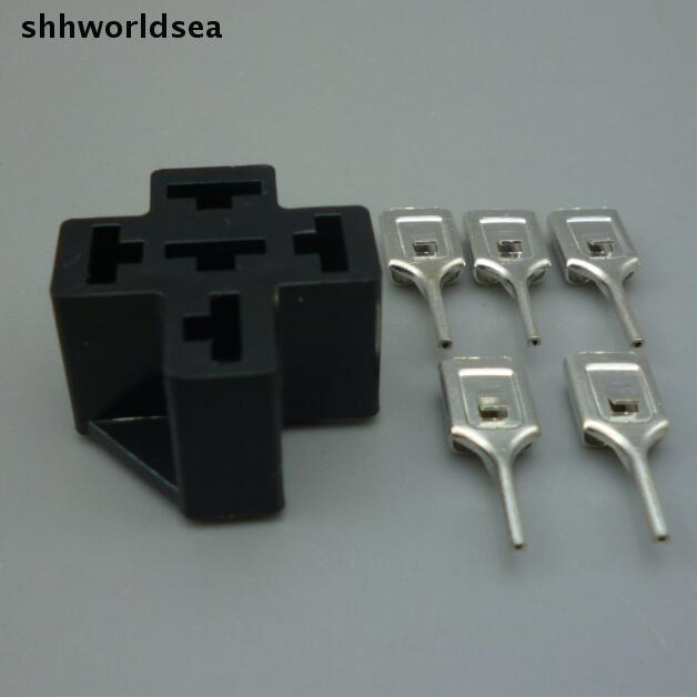 Shhworldsea Automotive Relay Sockets 5 Pin Pcb Mount  For
