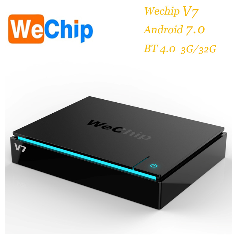 Originale Più Nuovo Wechip V7 Android 7.0 Tv Box S912 Octa-core 3 gb 32 gb Dual Wifi 2.4g + 5.0g Con Bluetooth Smart Tv Box 4 k Box HD
