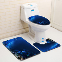 wc toilet seat cover toilet accessories 3pcs Non-Slip  Bath Mat Bathroom Kitchen Carpet Doormats Decor toilette toilet cover