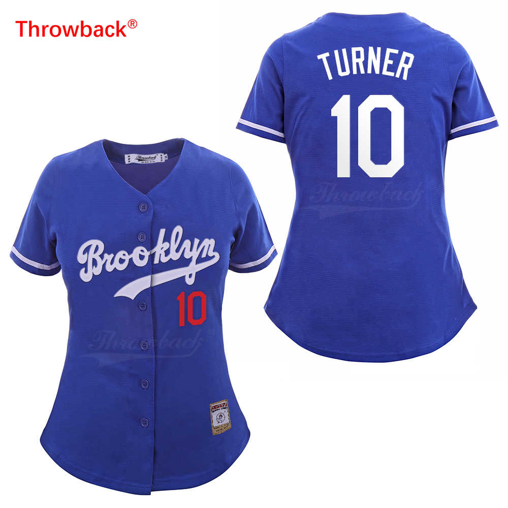 ... Throwback Jersey Women s Brooklyn Baseball Jerseys 27 Matt Kemp Jersey  10 Justin Turner 66 Yasiel Puig ... ece6ca533