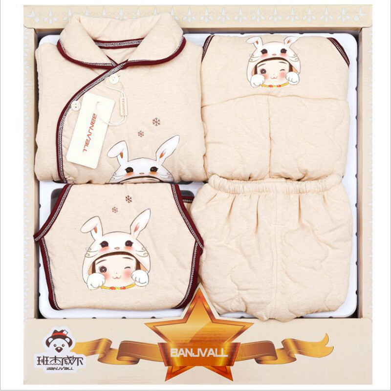 Newborn Baby Clothing Set Gift Set baby Girl Boys Clothes Infant Underwear Suits Toddler Clothing 5 Pieces For Winter 0 6M 6 12M