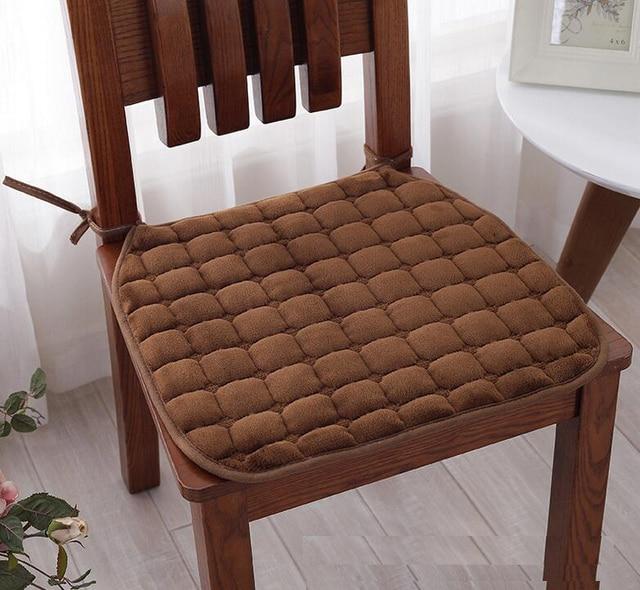 Delightful Fyjafon 2pcs Super Soft Chair Cushion Non Slip Seat Cushion/back Cushion  Chair Pad
