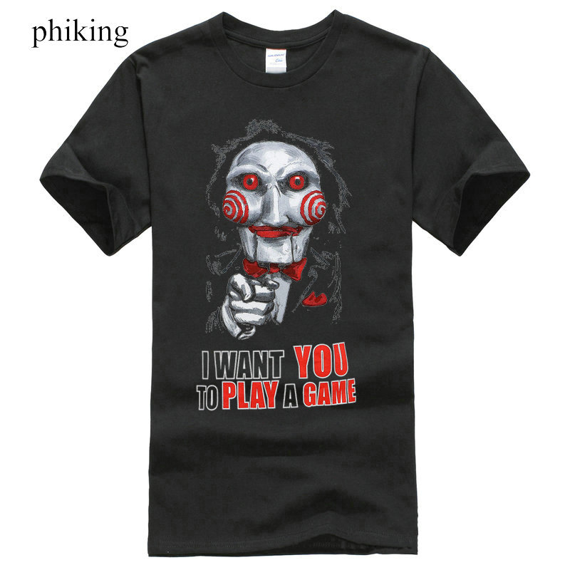 Cartoon Hip Hop Shirt Saw Movie I Want You To Play A Game T-Shirt S-3XL New New Men Summer Tops Casuals Shirts