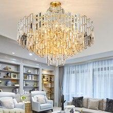 Luxo moderno lustre de cristal luminária contemporânea lustres lâmpada pingente pendurado luz para casa restaurante decoração