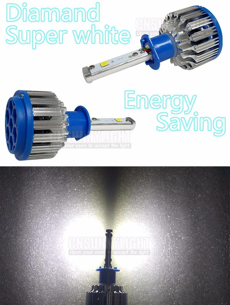 60W H1 Led CREE 6000LM Car Headlight Conversion Kit Driving Lamp Bulb Car External Lights H1 Fog Head Light Carro Levou Farol (6)