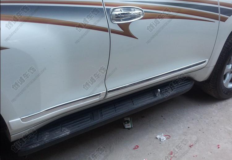 For Toyota Land Cruiser 150 Prado FJ150 2010 2011 2012 2013 2014 2015 Pearl White Side Door Body Molding Cover Trim