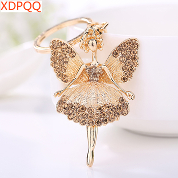 Creative Keychain Alloy Rhinestone Female Angel Keychain Handbag Pendant Car Keychain Woman Jewelry Man Jewelry Belt Buckle