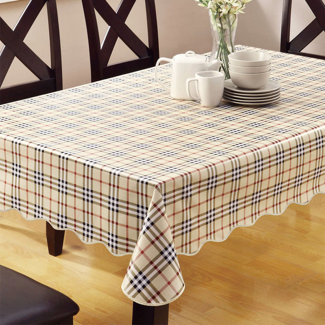 New PVC Table Cloth Waterproof And Oil Proof Plastic Disposable Tablecloth  Garden European Style Dining Tablecloth