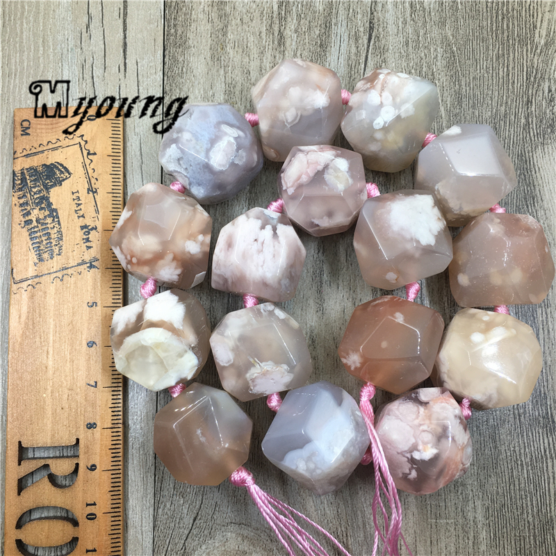 Image 5 - Large Faceted Cherry Agates Stone Nugget Beads,Natural Gems Stone Pendant Beads For DIY Jewelry MY1960Beads