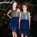 Childdkivy 3-12y niñas vestidos de verano 2017 del bordado de la princesa vestido de la muchacha de cumpleaños traje de encaje vestido de los niños embroma la ropa