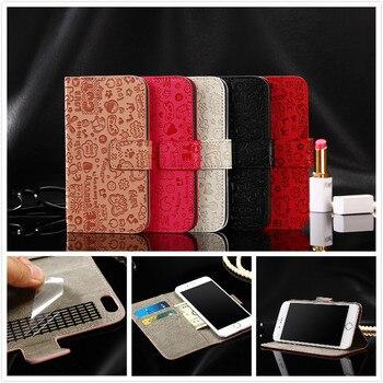 レザーケースのためのarchos 55ダイヤモンドselfie liteカバー財布フリップケースカバーcoqueキャパ電話バッグ