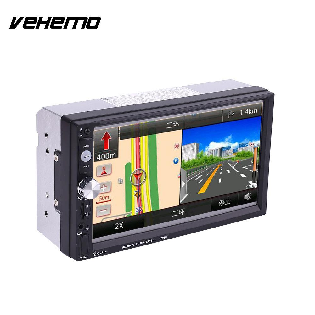 Vehemo 2 Double DIN 7 Inch Car MP5 7023D Support With GPS Navigation FM Bluetooth Not Include GPS vehemo new 7 inch car vehicle gps fm radio bluetooth no dvd with north america map