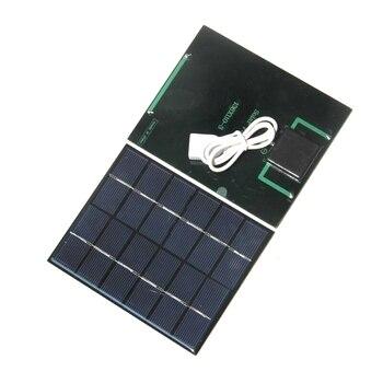 BUHESHUI 2W 6V Solar Panel Charger For Power Bank Polycrystalline Solar Cell DIY Solar Chargr For 3.7V Battery Light 10pcs/lot