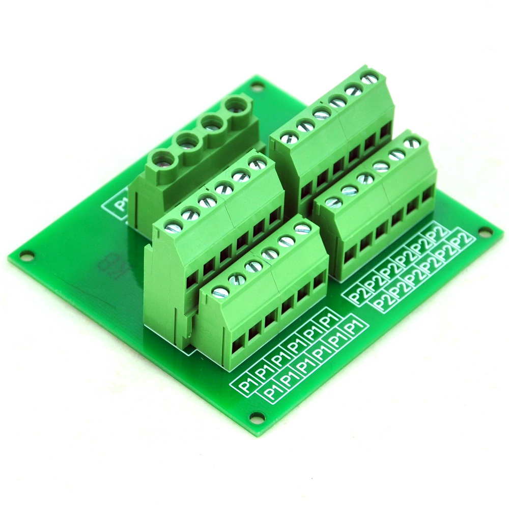 Panel Mount 12 Position Power Distribution Module Board.