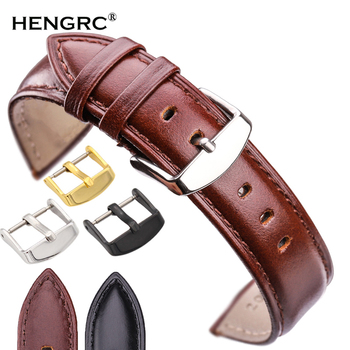 18mm 19mm 20mm 21mm 22mm 24mm Watchbands Men Watch Band High Quality Genuine Leather Women Watch Strap Bracelets Accessories 18mm 24mm watch band strap brown black high quality genuine leather watchbands bracelet accessories deployment buckle