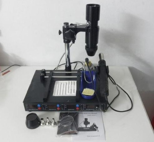 KADA 862d++ 4 in 1 full auto IRDA Infrared soldering station BGA rework station,free tax to Russia shuttle star sp380iitouch screen hot air bga rework station sp 380ii free tax to russia