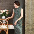 2016 Новый Традиционный Китайский Одежда Cheongsams Хлопка Рукавов Длинный Cheongsam Qipao Свадебные Платья