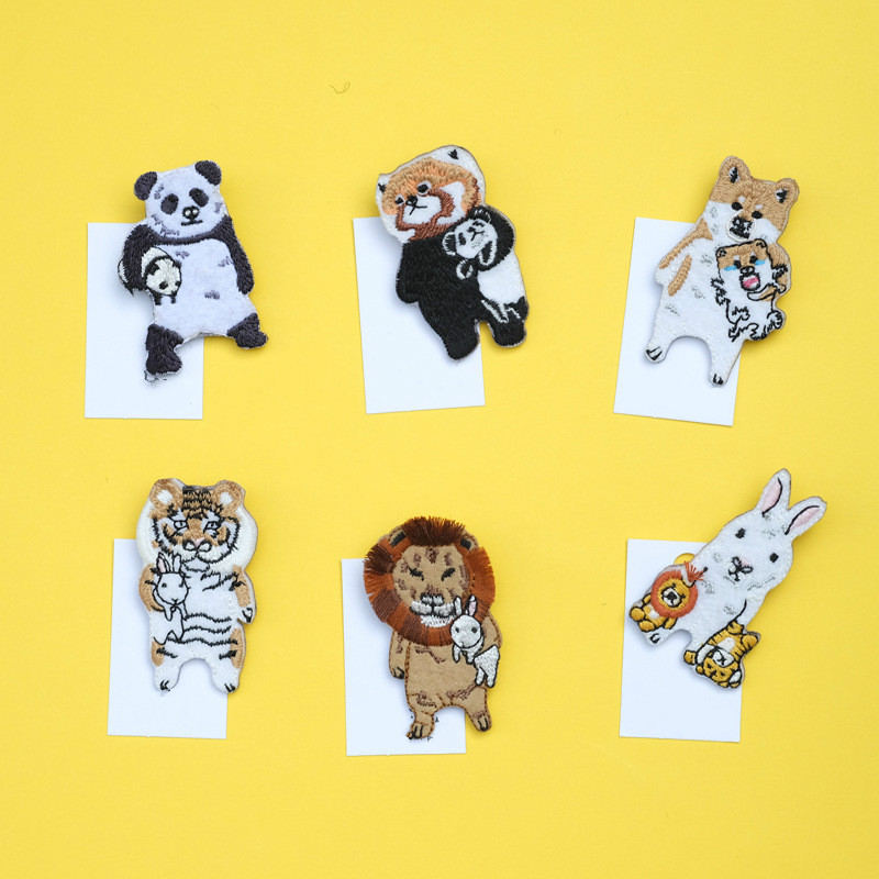Confident 20pcs/lot Japanese Style Cartoon Animals Brooches Panda Tiger Embroidery Pin For Kids Lapel Pin Hat/bag Pins Women Badge Sc4775 Badges Arts,crafts & Sewing