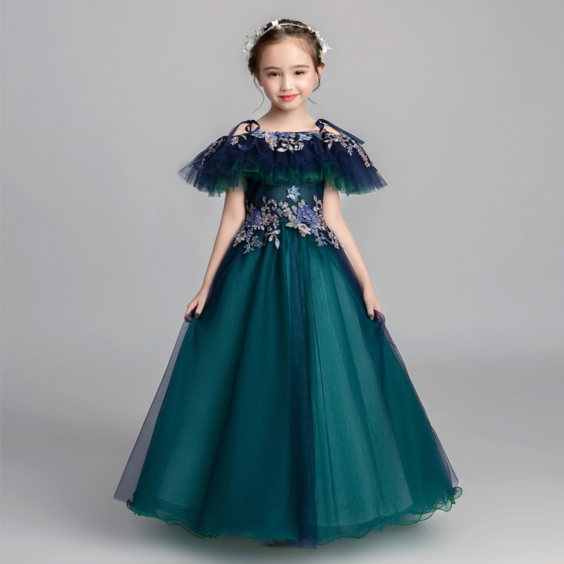 2019 New Children Girls Lace Embroidery Tutu Princess Dress Kids Dresses For Girls Wedding Party Baby Girl Clothes Vestido L3992019 New Children Girls Lace Embroidery Tutu Princess Dress Kids Dresses For Girls Wedding Party Baby Girl Clothes Vestido L399