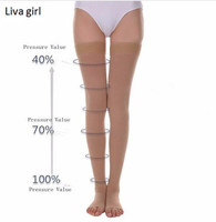High Quality Compression Stockings Varicose Veins40 50mmHg Pressure Mid Calf Length Medical Stockings For Varicose Veins