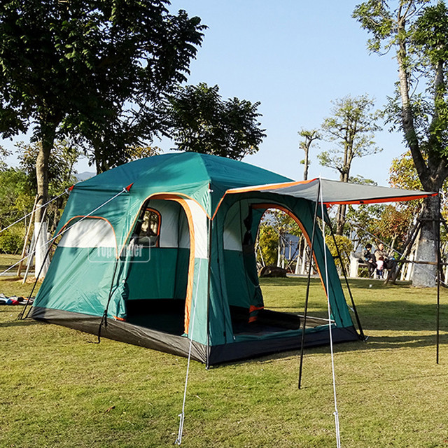 4/6 Person Tents Outdoor C&ing Tourism 2 Room Tent Double Layer Waterproof Large Family : 6 room tent - memphite.com