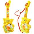Divertido primeira infância quebra-cabeça brinquedos infantil brinquedo musical elefante dos desenhos animados música guitarra elétrica