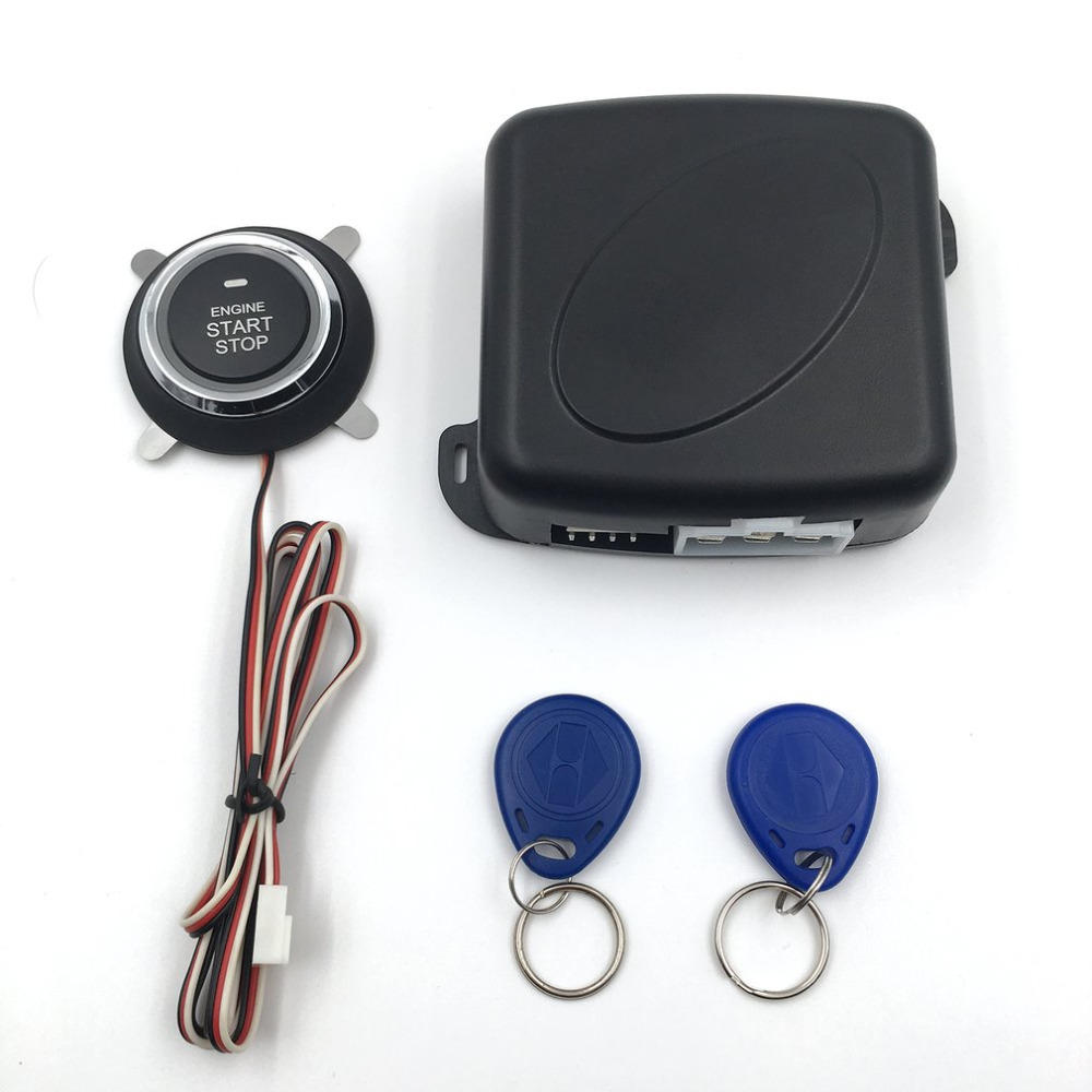 Auto Car Alarm Engine Push Button Start Stop RFID Lock Ignition Switch Keyless Entry System Starter Anti-theft System