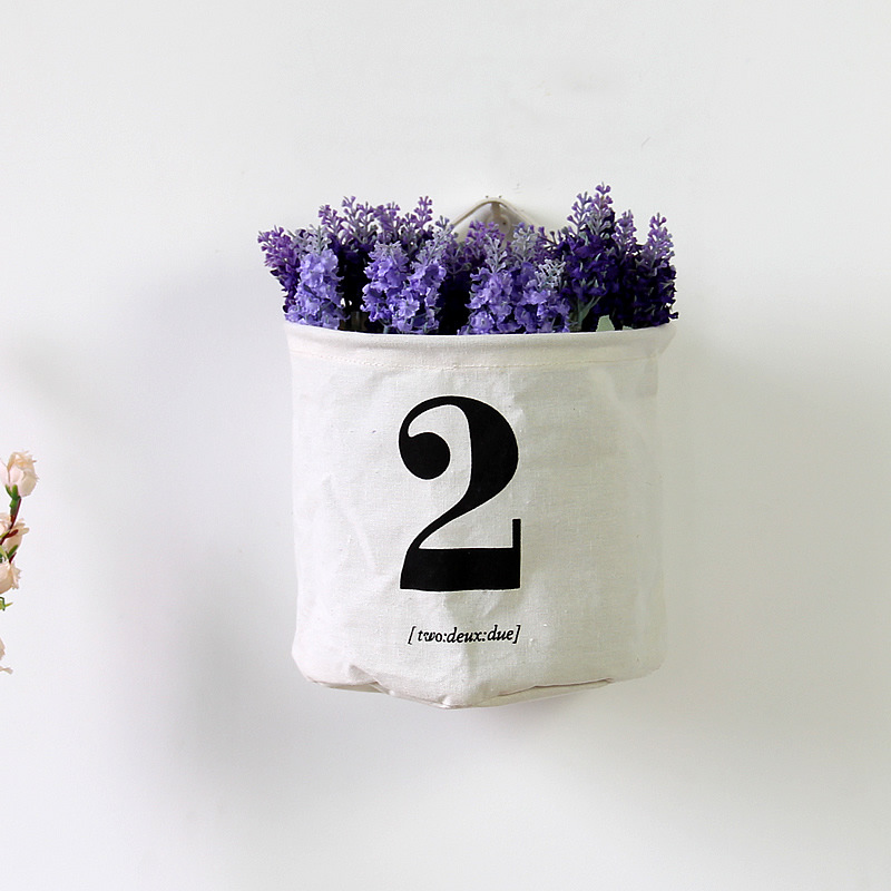 2016 New Arrival Foreign Trade Manufacturers Selling Cotton Fabric Flower Waterproof Storage Creative Decorative Pots