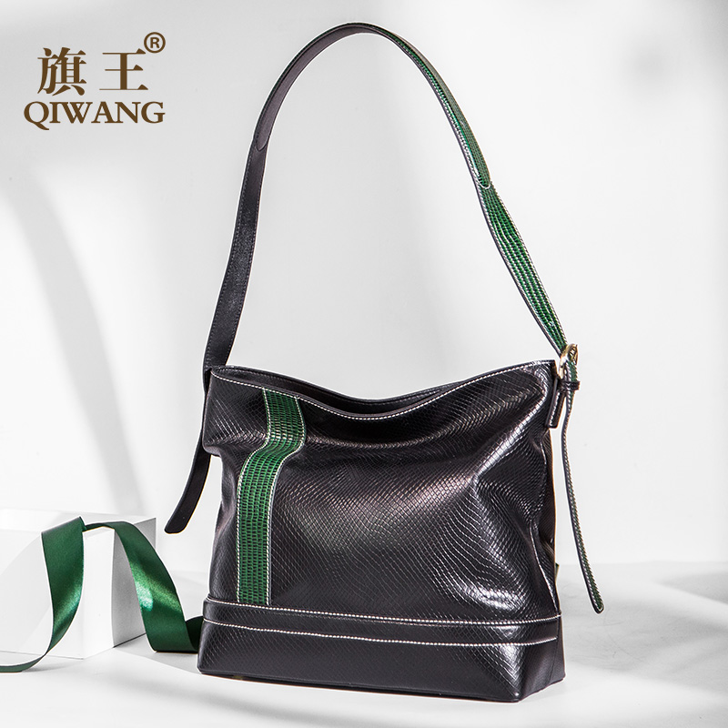 Qiwang Shoulder bag Brand messenger crossbody bags for women fashion purses and handbags Cow Leather animal