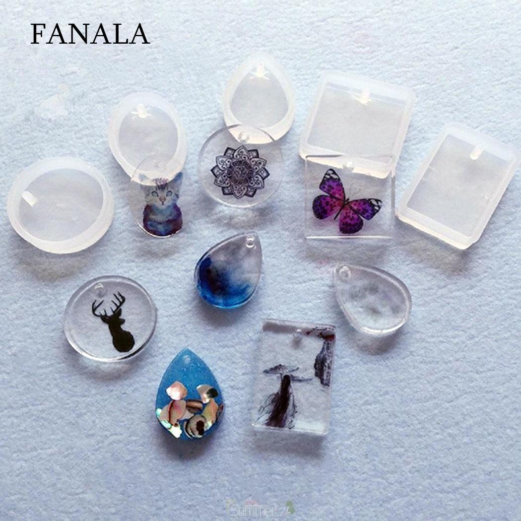 Ninbo 3 Pieces Magic Wand Silicone Mould Key Star Moon Heart Shape Stick Shape Jewelry DIY